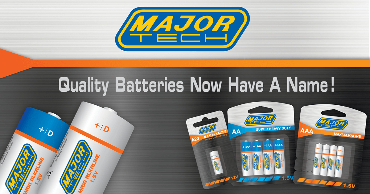 Major Tech Launches a New Range of Quality Batteries