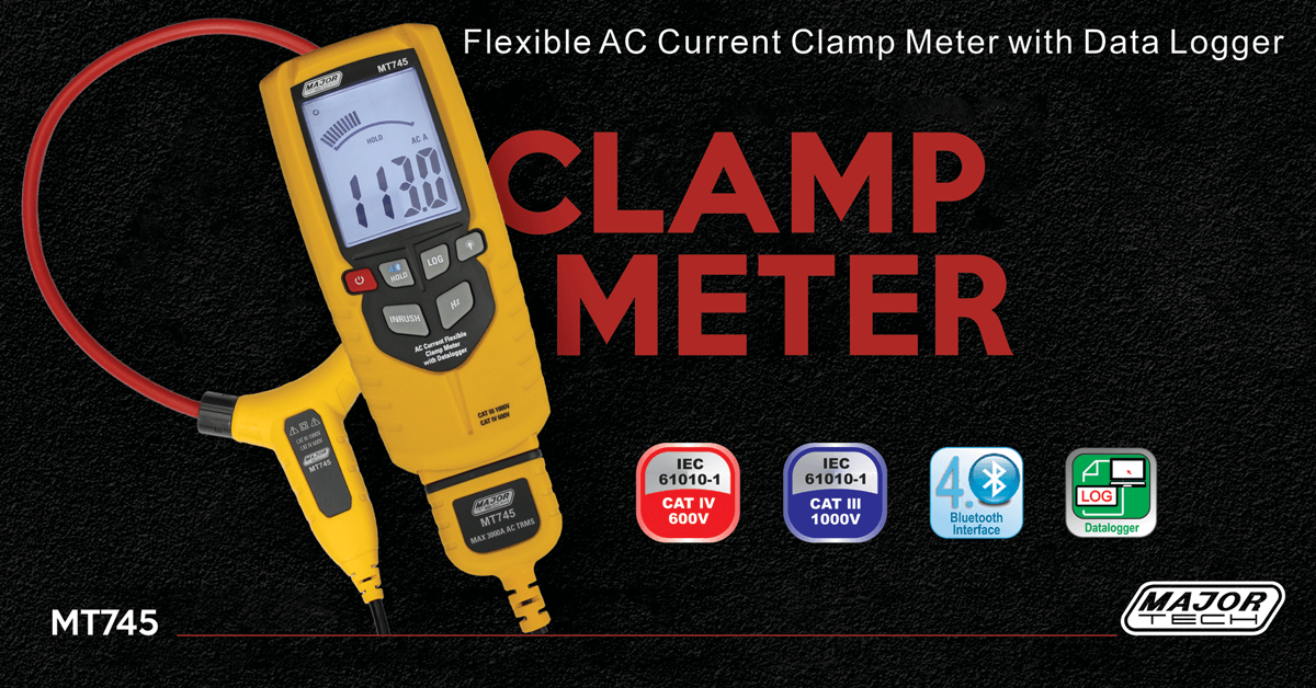 AC Current Clamp Meter with Data Logger
