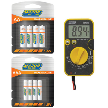 Batteries and Battery Test Combo